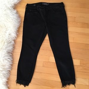 Torrid Ankle Skinny Jeans with Lace Ankles